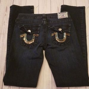 💎TRUE RELIGION SEQUIN POCKET STRAIGHT LEG JEANS